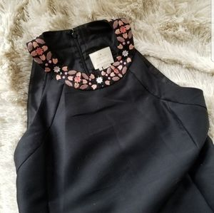 Kate Spade black dress with mosaic embroidery 6